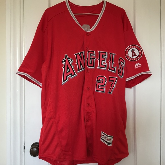 Mike Trout jersey Los Angeles Angels Basketball